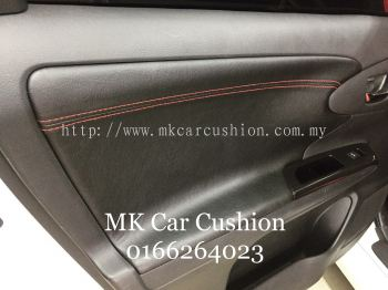 TOYOTA WISH SUPER LEATHER & CPS DESIGN BLACK + RED SEAT COVER, 3 YEARS WARRANTY