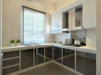 Wet Kitchen 3D Perspective View