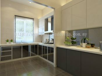 Kitchen 3D Perspective View