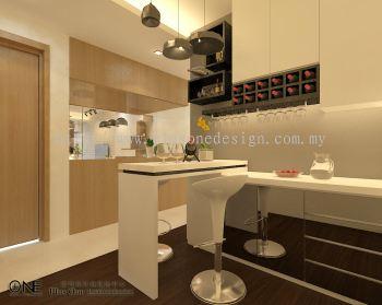 3D View - Bar Counter