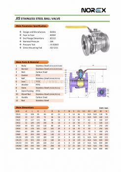 NOREX JIS STAINLESS STEEL BALL VALVE