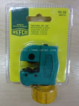 "REFCO RS-16 TUBE CUTTER (1/8"" TO 5/8"") P/N:4682722"