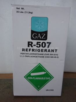GAZ 507 X 25LBS (11.3KG) HFC REFRIGERANT GAS (PRODUCT OF SINGAPORE)