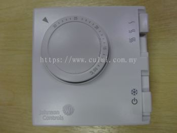 JOHNSON CONTROLS T125AAC-JSO ON/OFF TEMPERATURE THERMOSTAT C/W 3 SPEED SWITCH