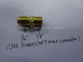 "1/4""SAE (FLARE) X 1/8""NPT MALE CONNECTOR MC-04X02"