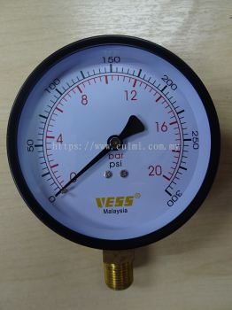 "VESS FIG. PG100 (4""XBSPT3/8"")GENERAL WATER PRESSURE GAUGE"
