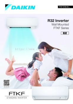 Daikin R32 Inverter Wall Mounted FTKF Series Air-Conditioner (Daikin Malaysia)