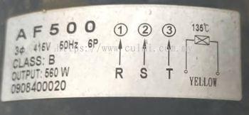 YORK HAF-500 (560W OUTPUT) (415V/3PH/50HZ) CLASS B FAN MOTOR - (TRANE AIR COND)