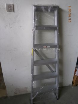 "SL ""STEP BY STEP"" ALUMINIUM SINGLE SIDED A SHAPE STEP LADDER"