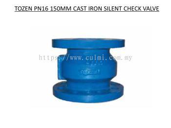 TOZEN PN16 150MM CAST IRON SILENT CHECK VALVE