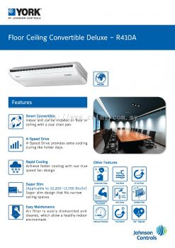 YORK Floor/Ceiling Convertible Deluxe Air-Conditioner [3 Star] Non-Inverter (R410A)