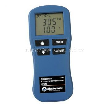 MASTERCOOL 52245 DIGITAL PRESSURE / TEMPERATURE CHART