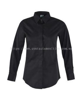 Service Shirt - L/Sleeves Black (Female)