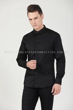 Service Shirt - L/Sleeves Black (Unisex-Front)