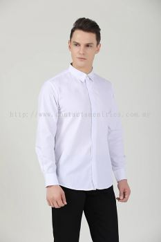 Service Shirt - L/Sleeves White (Unisex-Front)