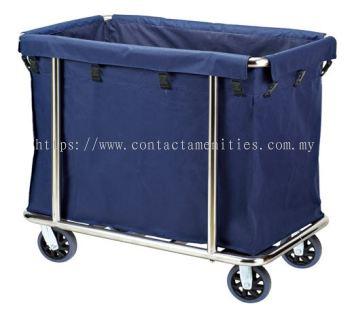 C-43SS Stainless Steel Soil Linen Trolley