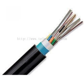 4C-SM-OT Outdoor 4-core Fiber Optic Single Mode cable; Jelly-Filled with 2-wire Armored jacket
