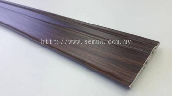70mm PVC Skirting - Teak ( PSK70-1003 )
