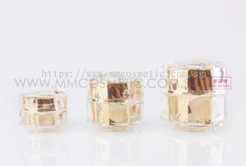 Gold Acrylic Pump Container