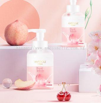 ��˹��������ӣӣ�̸���ԡ¶ Ansdole Peach Sakura Milk Cover Shower Gel