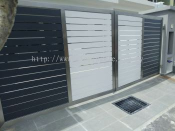 Stainless Steel Swing Gate With Full Aluminium