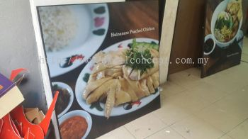 chuen chicken rice poster frame at subang usj