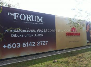 Sunsuria The Forum  project holding sign - UV Inkjet & LED Conceal Box Up lettering at kota damansara