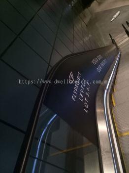 Escalator sticker wrapping