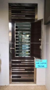 Steel With Aluminium Safety Door