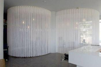 semi automatic curtain track