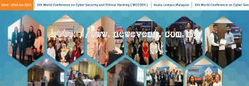 6th World Conference on Cyber Security and Ethical Hacking ( WCCSEH )