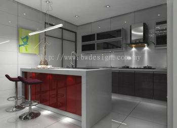 Dry Kitchen I-Land Design