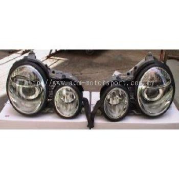 W210 99 Head Lamp Crystal Projector W/Vacuum