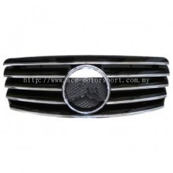 W202 CL Sport Grille ( Silver , Black , Chrome , White )