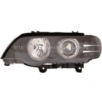 E53 00 Head Lamp Projector W/Rim + Motor + LED Indicator  ( H7) OR( D2S Use )