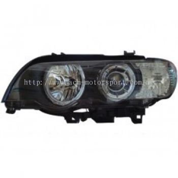 E52 00 Head Lamp Projector W/White Rim + Motor ( H7 )OR ( D2S Use )