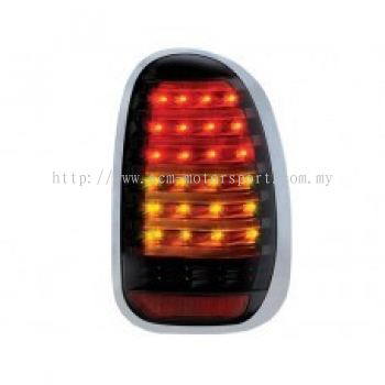 Countyman R60'10 Rear Lamp Crystal LED + Light Bar Smoke..