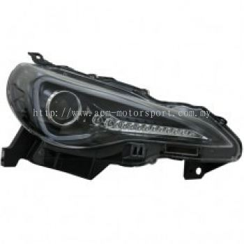 FT/GT 86 Head Lamp Projector W/Light Bar + Sequential Signal LED