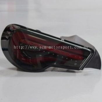 FT/GT 86 Rear Lamp Crystal LED W/Light Bar + Sequential Signal LEDSmoke/Red Light Bar