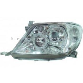Hilux 04 Head Lamp Crystal Chrome Projector W/CCFL