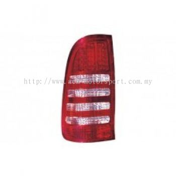 Hilux 04 Rear Lamp Crystal LED Red/Clear