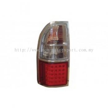 FJ90-00 Rear Lamp Crystal LED Clear/Red