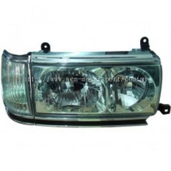 FJ80-90 Head Lamp Crystal Green W/Corner Lamp