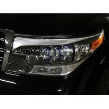 FJ200 08 Head Lamp Projector Black Chrome (Lexus LS600 Look)