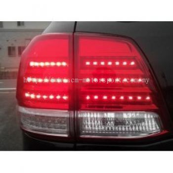 FJ200 08 Rear Lamp Crystal LED Red/Clear (Lexus Look)