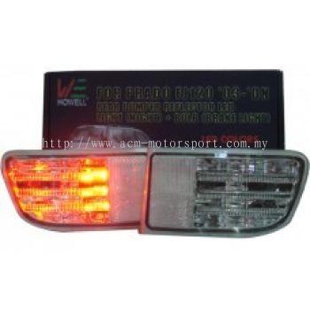 FJ120 Rear Bumper Reflector W/Lamp + LED