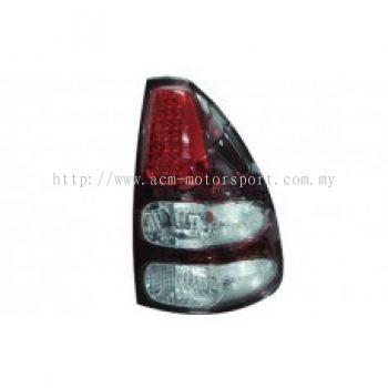 FJ120-03 Rear Lamp LED Crystal Red/Clear
