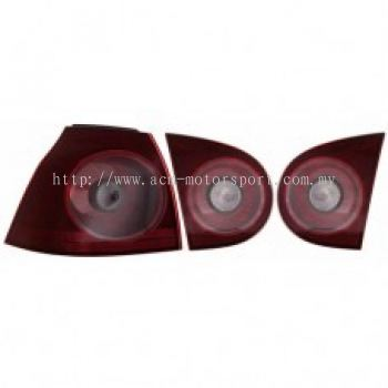 MK5 Rear Lamp Crystal Red/Clear R32 Look
