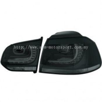 MK6 Rear Lamp Crystal LED Smoke