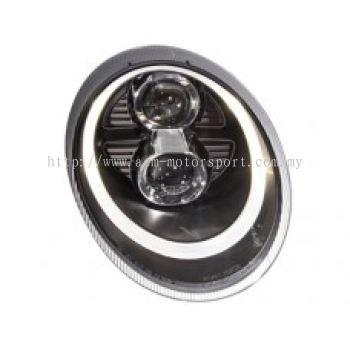 Carrera 04 Head Lamp Dual Projector W/DRL + Motor (Xenon OR Halogen USE)